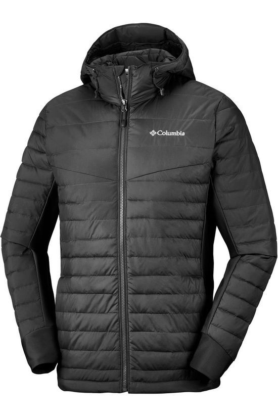 Columbia Coat Powder Pillow Hybrid Hooded black