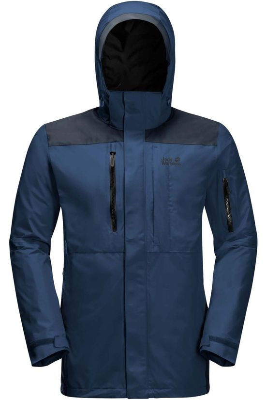 Jack Wolfskin Coat Brecon Range dark blue