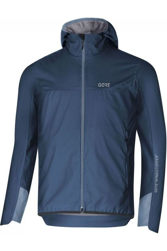 Gore Wear Softshell H5 Windstopper Insulated Hooded Donkerblauw/Lichtblauw
