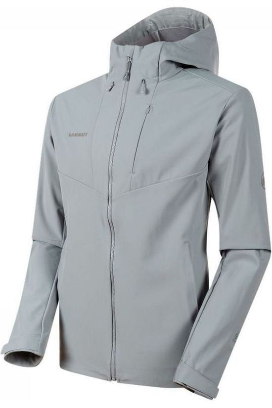 Mammut Softshell Sapuen SO Hooded Gris Clair