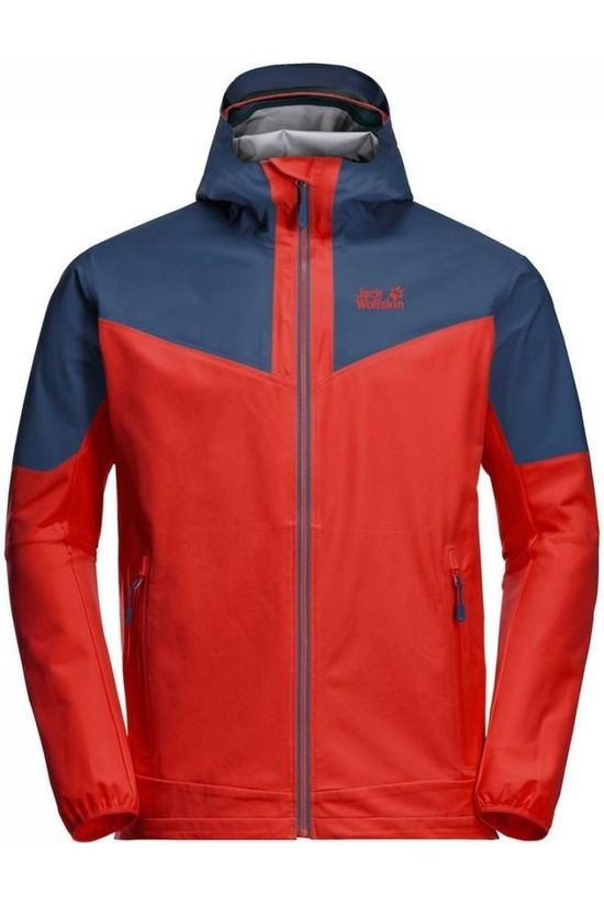 Jack Wolfskin Softshell Alpine Trail Bleu/Orange