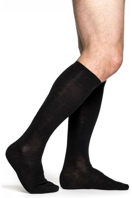 Woolpower Sock Liner Knee High Lite (thin everyday sock) black