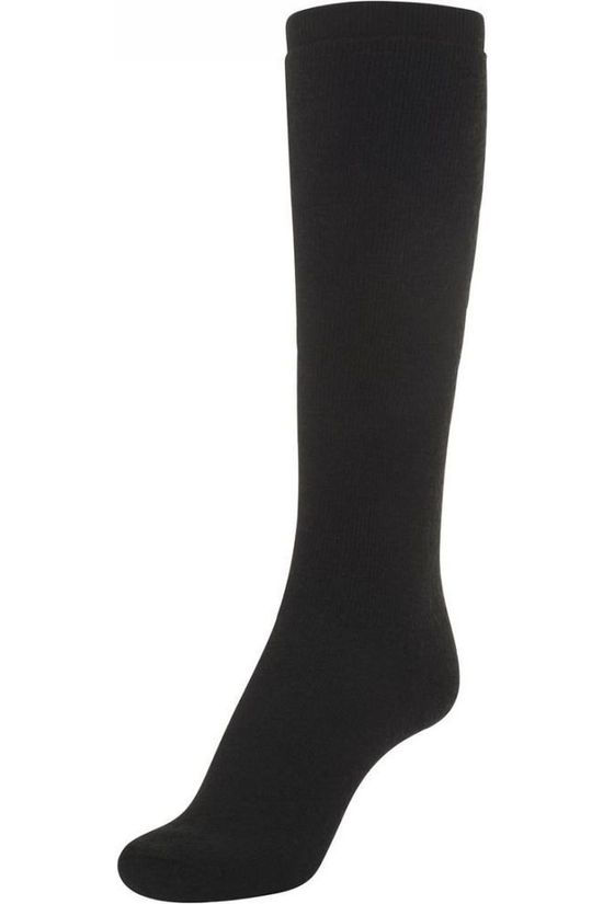 Woolpower Kous Knee-High 400 (warm everyday sock) Zwart
