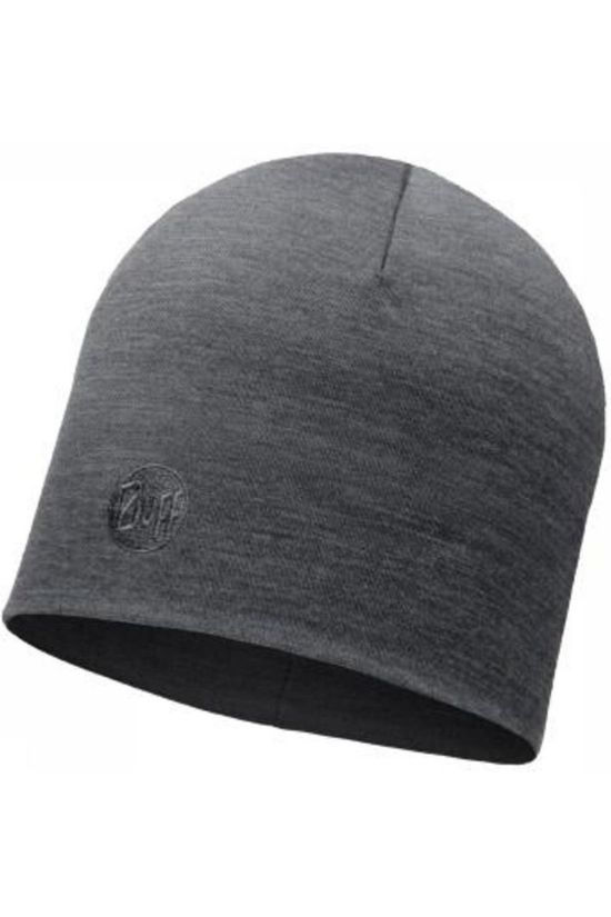 Buff Bonnet Merino Wool Thermal Solid Grey mid grey