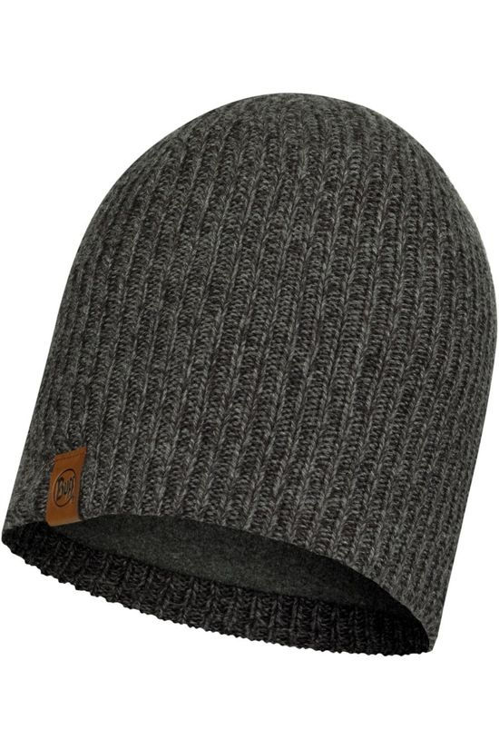 Buff Bonnet Lifestyle Knitted Hat Lyne Grey Dark Grey Marle