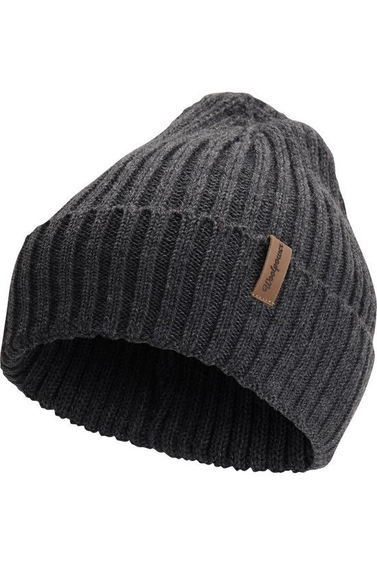 Woolpower Bonnet Beanie Rib Dark Grey/Marle