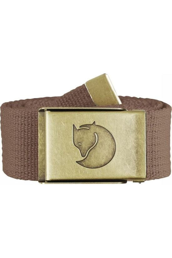 Fjällräven Belt Canvas Brass dark brown