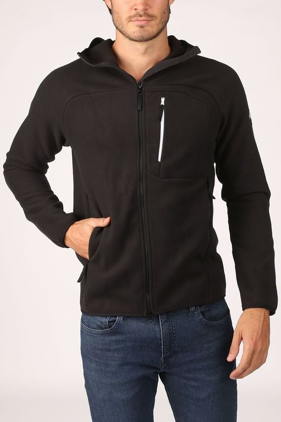 Millet Fleece Abrasion Fleece Hoody Zwart