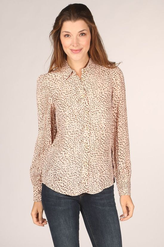 FRNCH Shirt Carolyne Ecru/Brown