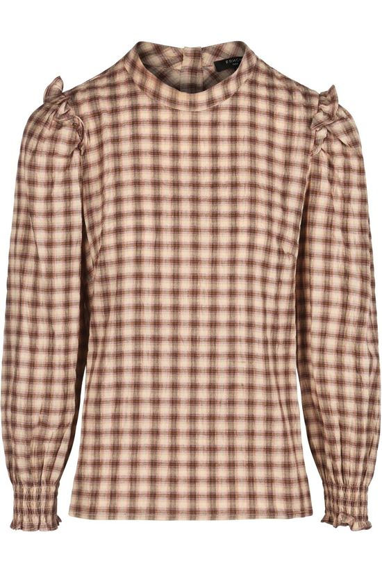 FRNCH Shirt Carmella light pink/brown