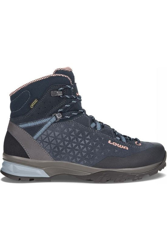 Lowa Shoe Sassa Gore-Tex Mid Navy Blue/Light Pink