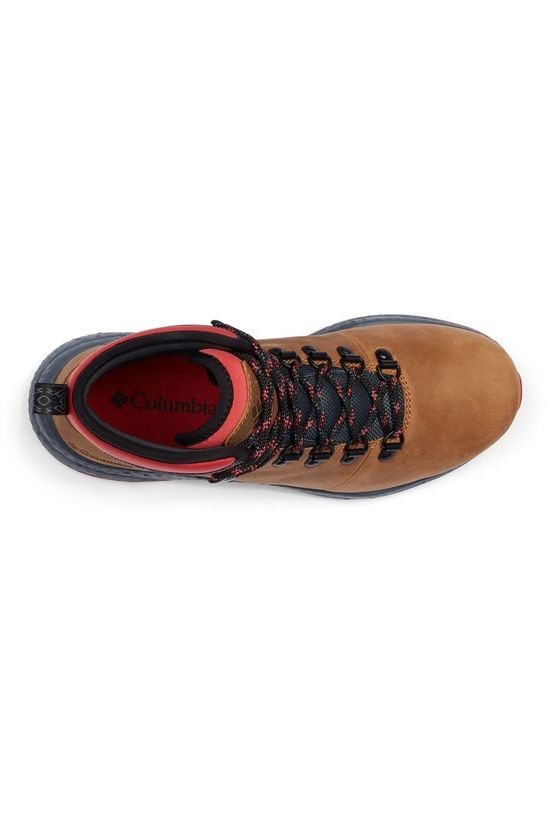 Columbia Shoe Sh/Ft Wp Hiker Camel Brown/Red