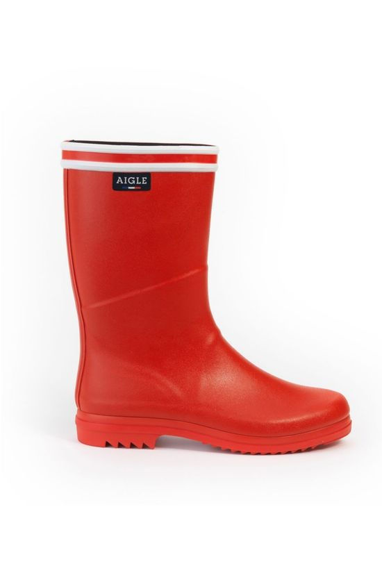 Aigle Laars Chanteboot Stripes Rood/Wit