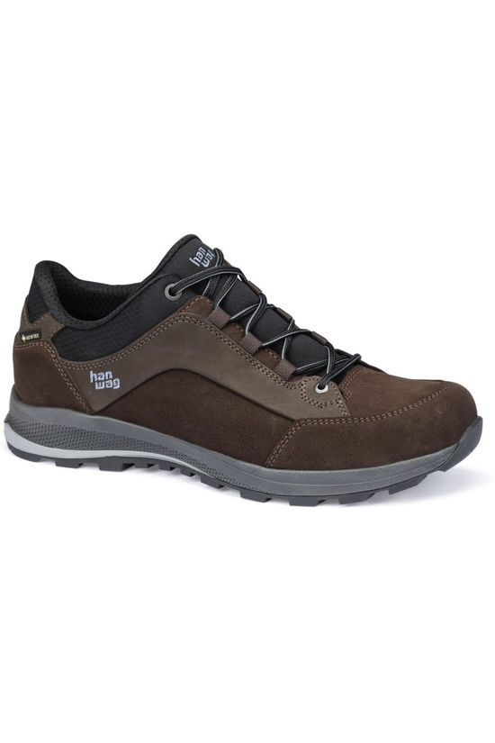 Hanwag Shoe Banks Low Gore-Tex dark brown/black