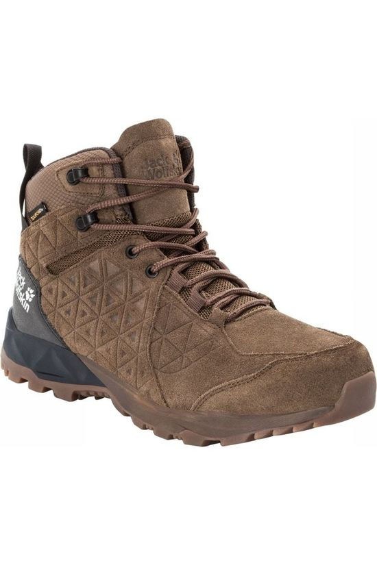 Jack Wolfskin Shoe Cascade Hike Lt Texapore Mid mid brown