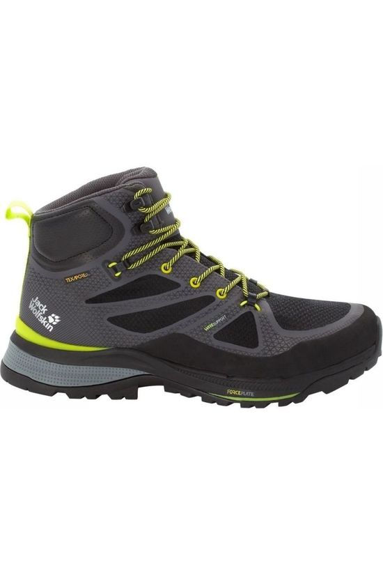 Jack Wolfskin Shoe Force Striker Texapore Mid Dark Grey/Lime Green