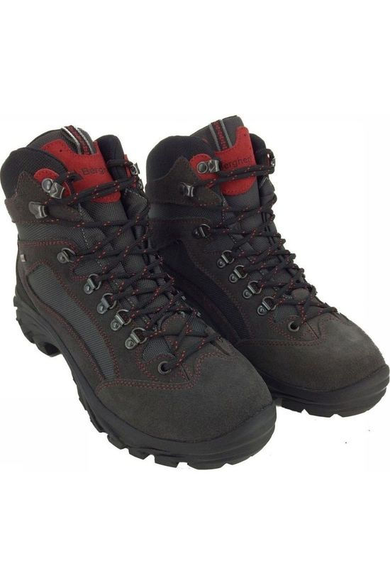 BERGHEN Shoe Brennero dark grey/red
