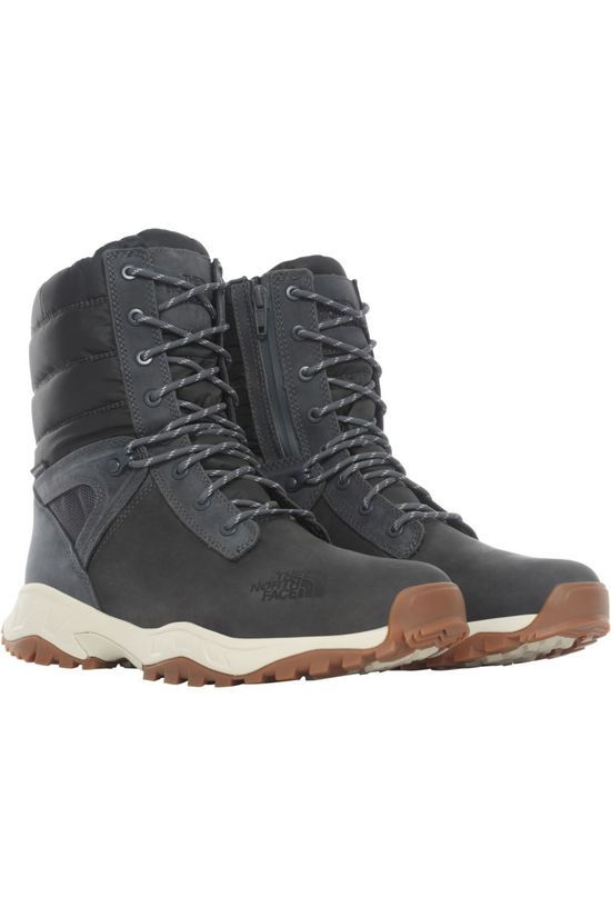 The North Face Chaussure D'Hiver Thermoball Boot Zip-Up Gris Foncé/Ecru