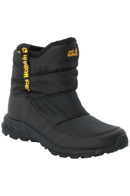 Jack Wolfskin Chaussure D'Hiver Woodland Texapore Wt Mid Noir/Jaune
