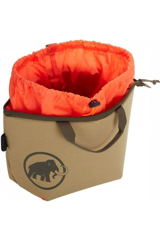 Mammut Sac à Magnésie Magic Boulder Chalk Bag Brun Clair/Orange