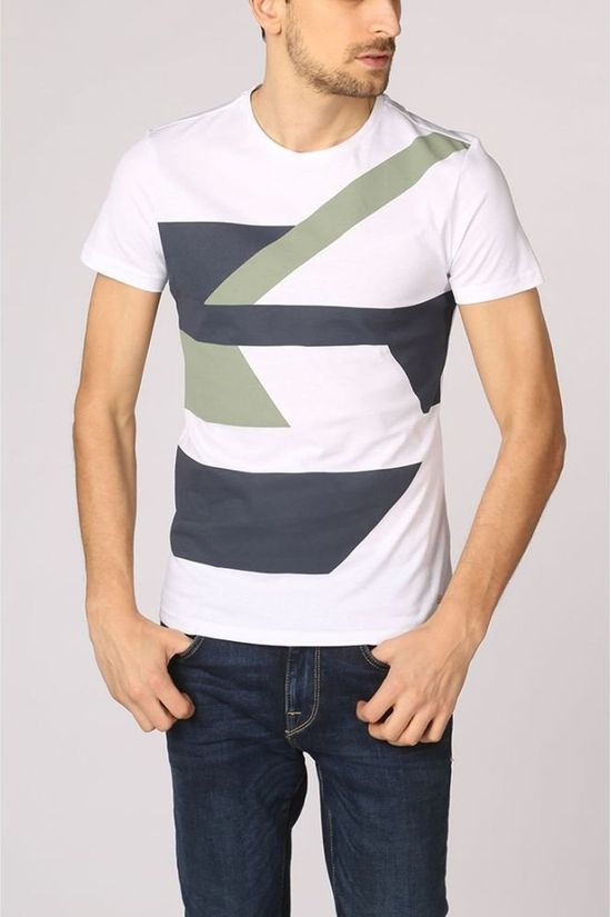 New In Town T-Shirt 8923068 Wit/Donkerblauw