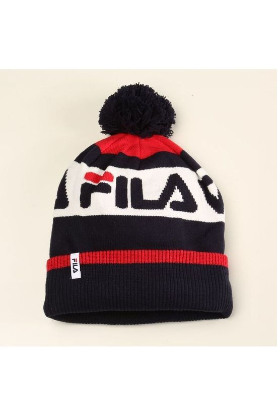Fila Bonnet Intarsia dark blue/mid red