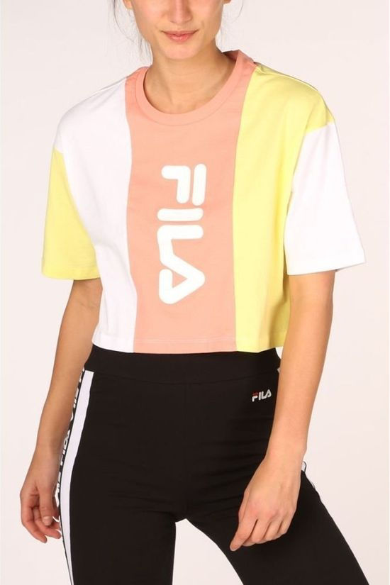 Fila T-Shirt Bai Cropped light yellow/light pink