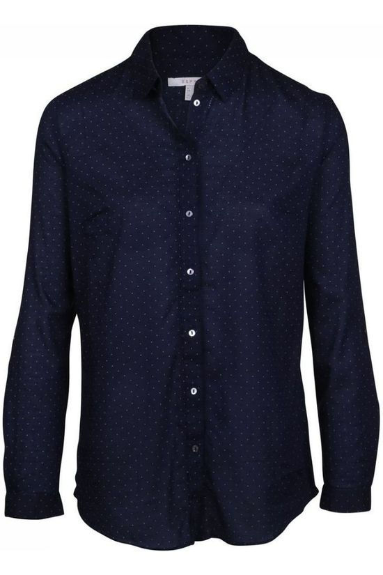 Esprit Shirt 098Ee1F015 dark blue/off white