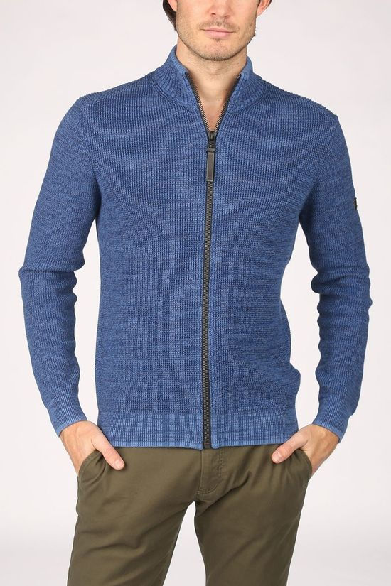 Camel Active Cardigan 4095194K19 mid blue