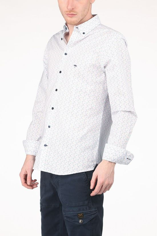 Fynch-Hatton Shirt 11216085 White/Ass. Geometric