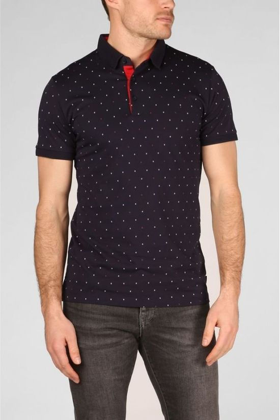 Esprit Polo 129Ee2K011 dark blue/Assortment Geometric