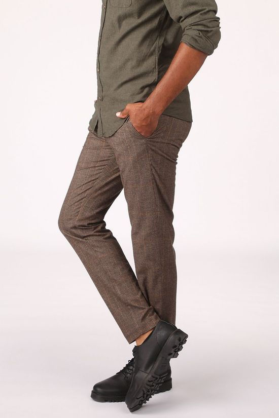MAC Trousers Lennox Taupe/Dark Brown