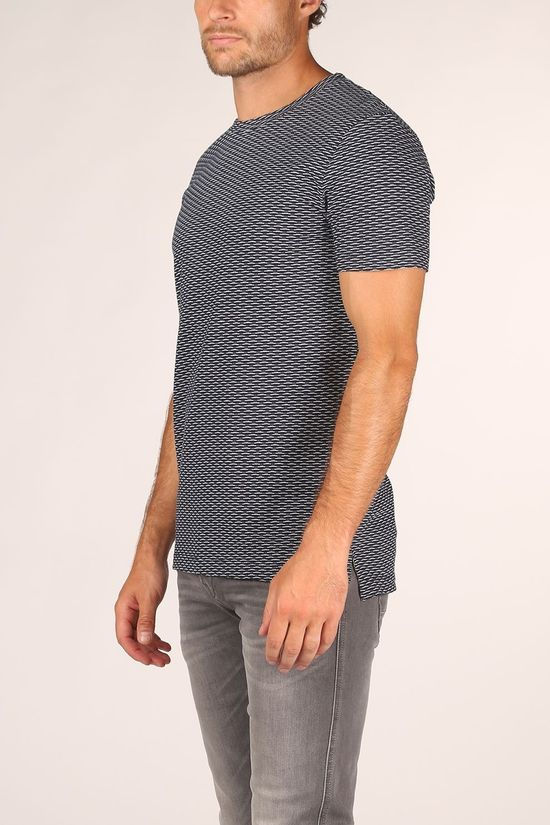Tom Tailor T-Shirt 1019561 Donkerblauw/Ass. Geometrisch