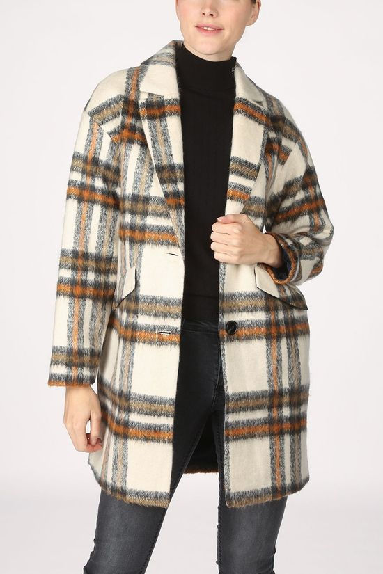 Tom Tailor Coat 1020971 Ecru/Rust