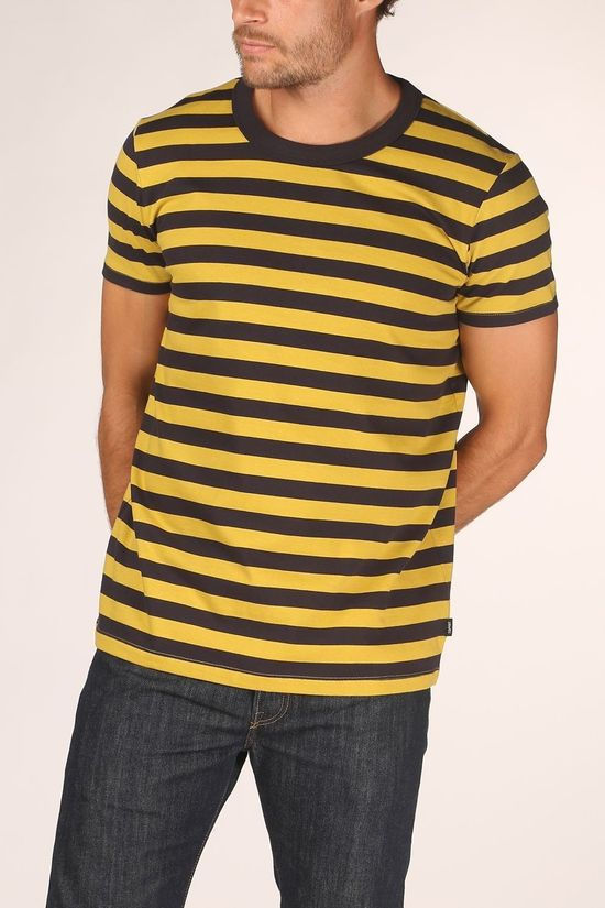 Esprit T-Shirt 070Ee2K307 dark blue/dark yellow
