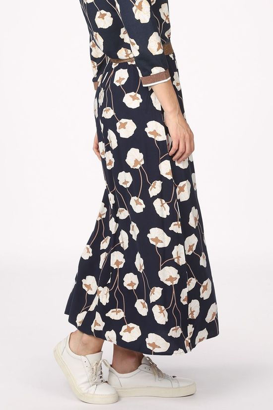 Tom Tailor Skirt 1021926 Navy Blue/Off White