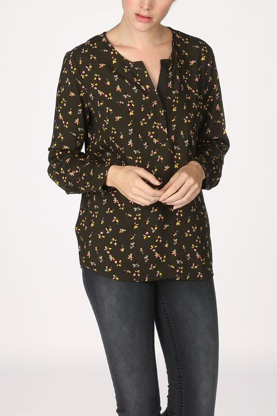 Tom Tailor Shirt 1021097 Mid Green/Ass. Flower