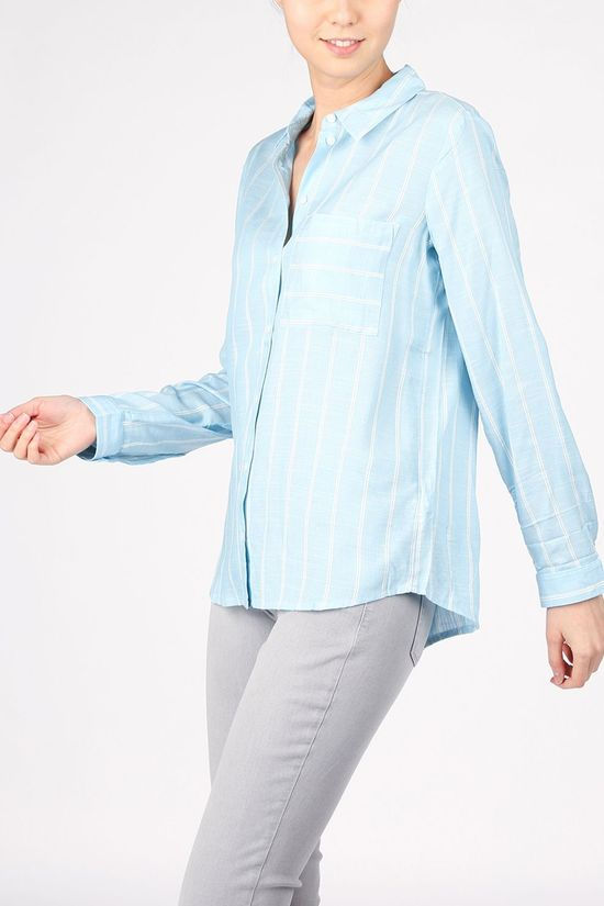 Tom Tailor Shirt 1024059 Blue (Jeans)/Off White