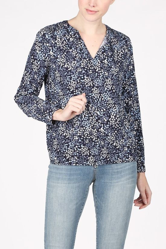 Tom Tailor Blouse 1023984 Marineblauw/Lichtblauw