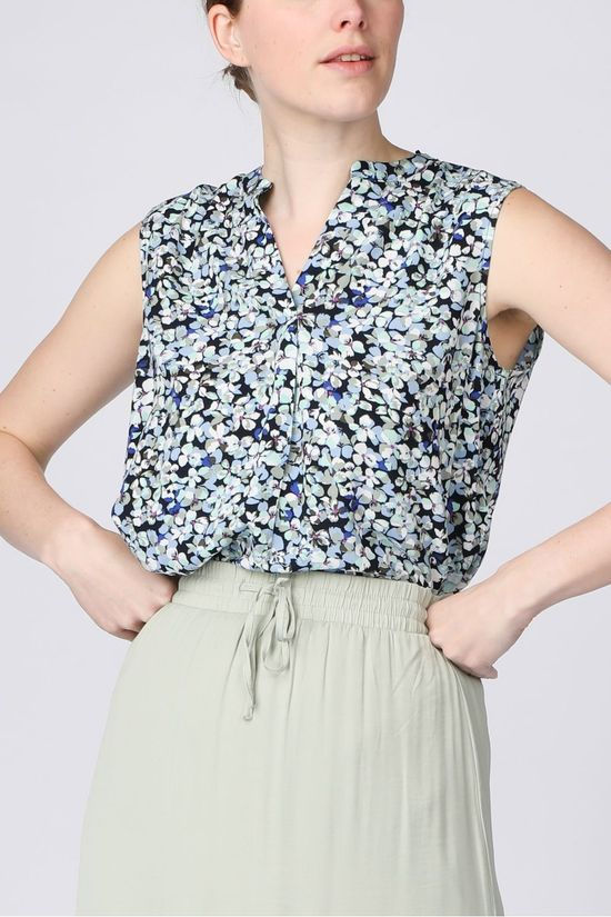 Tom Tailor Blouse 1025048 Marineblauw/Ass. Bloem