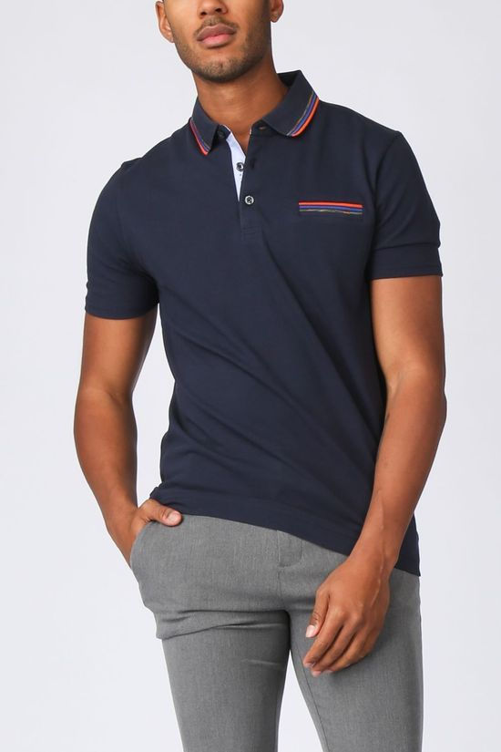 camel active Polo 409466-5P13 Donkerblauw