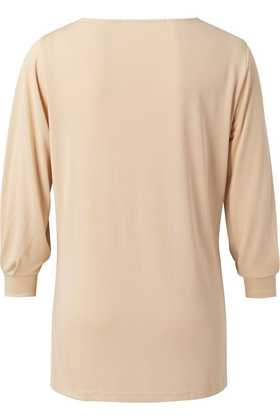 Yaya T-Shirt Pleated Sleeve Lichtroze