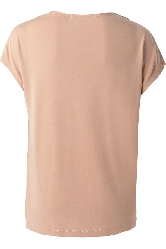 Yaya T-Shirt Drape Neck With Cap Sleeves Lichtroze