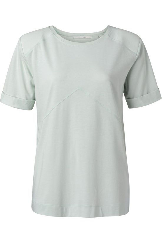 Yaya T-Shirt Padded Shoulder Lichtblauw