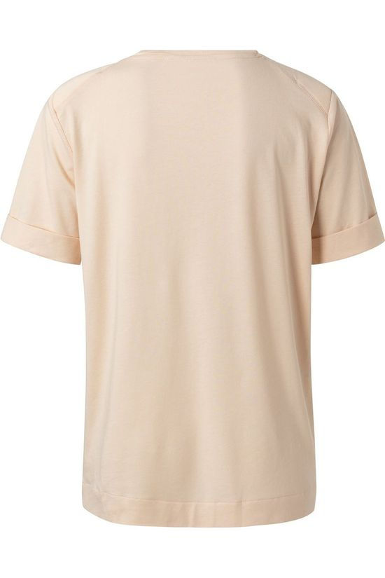 Yaya T-Shirt Padded Shoulder Brun Sable