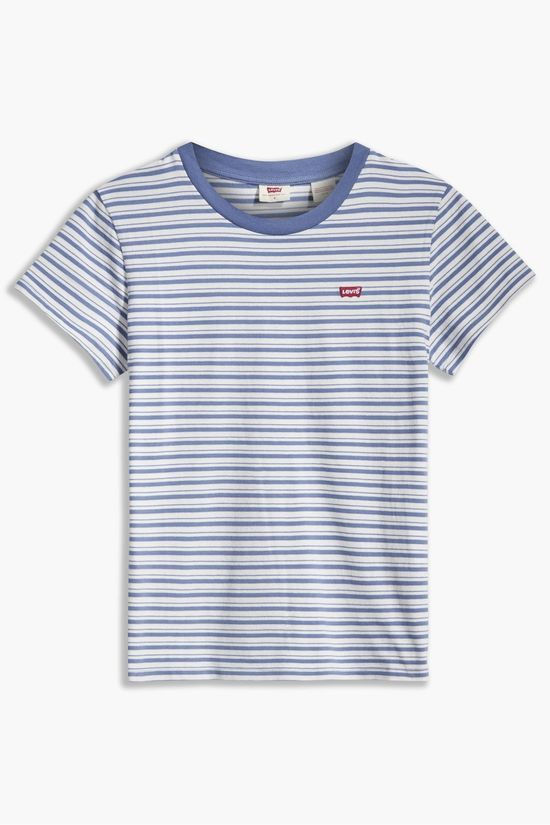 Levi's T-Shirt Perfect Tee Blanc/Bleu