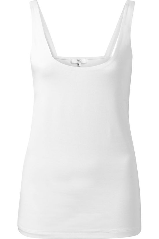 Yaya T-Shirt Double Layer Singlet With Round Neck Wit