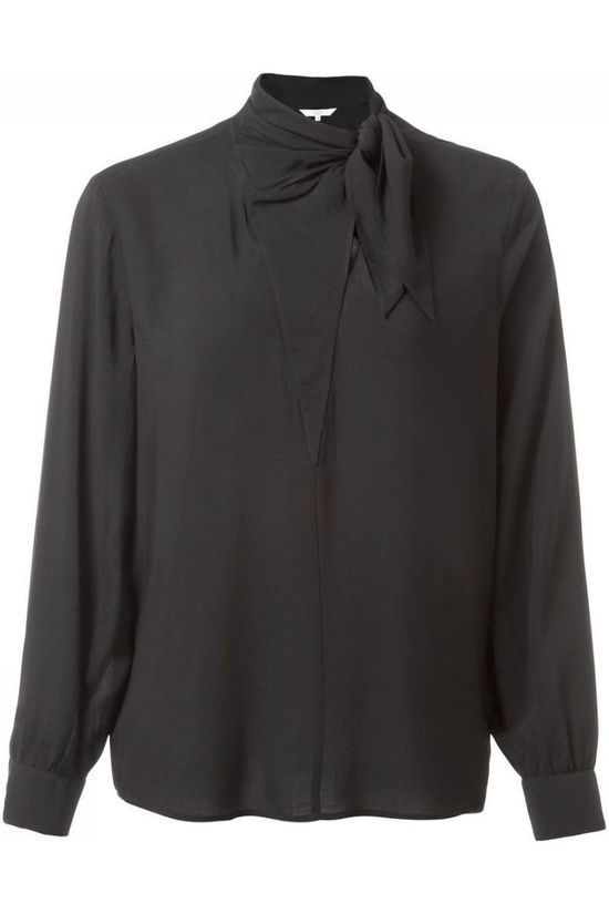 Yaya Blouse W. Small Zwart