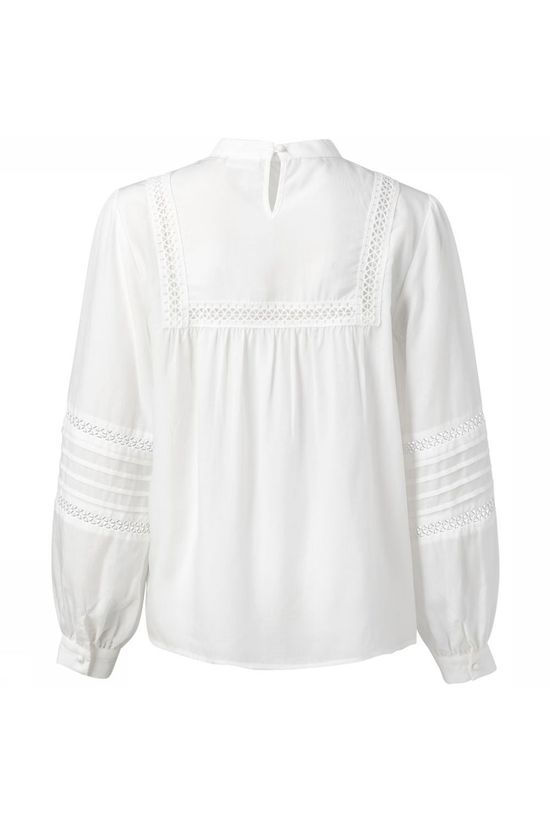 Yaya Blouse Embroidered Tape Wit