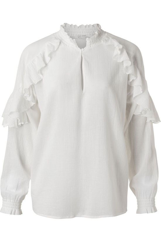 Yaya Shirt With Ruffles white